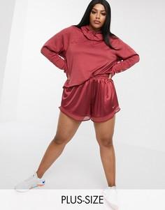 Розовые шорты с сетчатыми вставками Nike Running Plus-Розовый