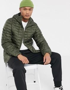 Куртка цвета хаки с капюшоном The North Face Thermoball Eco-Зеленый