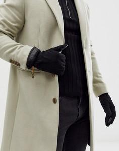 Черные замшевые перчатки Timberland-Черный
