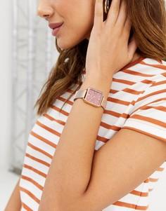 Наручные часы цвета розового золота с квадратным циферблатом Limit-Золотой