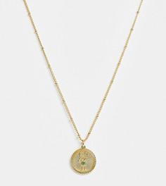 """Ожерелье с позолотой 14 карат и подвеской \""""Близнецы\"""" Reclaimed Vintage inspired"""