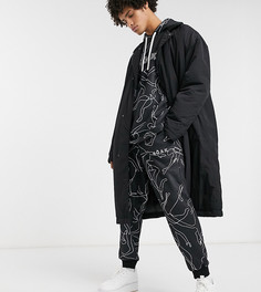 Черная дутая куртка Noak-Черный