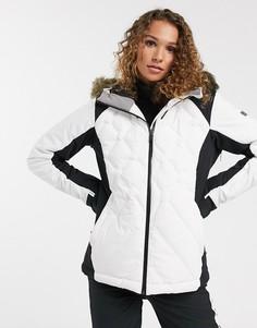 Белая стеганая лыжная куртка Roxy-Белый