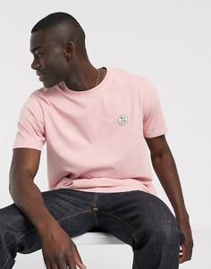 Розовая футболка с накладкой-логотипом Nudie Jeans-Розовый