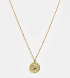 """Ожерелье с позолотой 14 карат и подвеской \""""Овен\"""" Reclaimed Vintage inspired"""