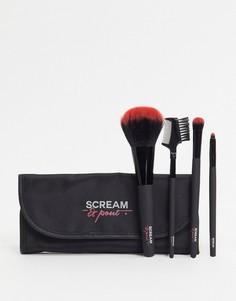 """Набор кистей для макияжа \""""Scream & Pout\"""" Fake Bake-Черный"""
