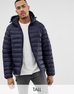 Дутая куртка с капюшоном French Connection TALL-Темно-синий