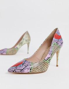 Туфли-лодочки с разноцветным принтом под змеиную кожу ALDO Tracey-Мульти
