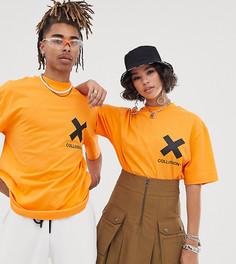 Оранжевая футболка с логотипом COLLUSION Unisex-Оранжевый
