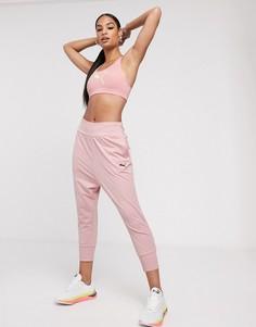 Мягкие драпированные спортивные штаны розового цвета Puma-Розовый
