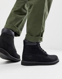 Черные ботинки на танкетке Timberland - 6 дюймов-Черный