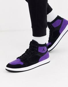 Черно-фиолетовые кроссовки Nike Jordan Access-Черный