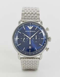 Часы-браслет 43 мм Emporio Armani AR11238 Aviator-Серебряный
