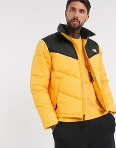 Желтая дутая куртка The North Face-Желтый