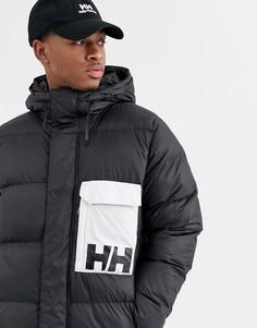 Черная дутая куртка Helly Hansen-Черный