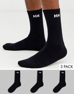 Набор из 3 пар черных носков с логотипом Helly Hansen-Черный