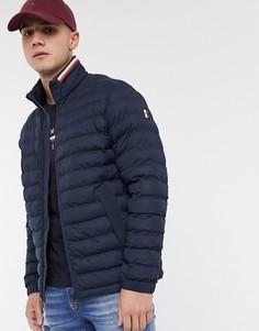 Темно-синяя стеганая куртка Tommy Hilfiger-Темно-синий