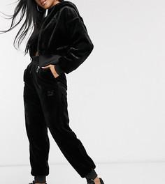 Черные джоггеры из искусственного меха Puma-Черный