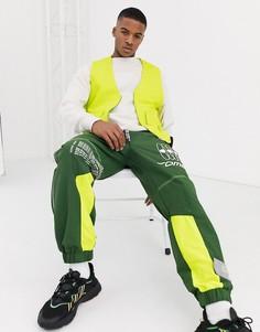 Лаймово-зеленый трикотажный жилет в стиле милитари ASOS DESIGN