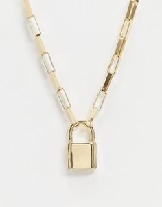 Золотистое ожерелье ASOS DESIGN-Золотой