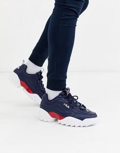 Темно-синие кроссовки Fila-Темно-синий