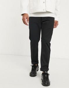 Черные узкие брюки чиносы Farah-Черный