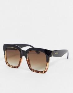 Большие солнцезащитные очки в черепаховой оправе ALDO-Коричневый