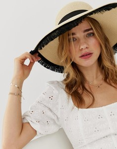 Соломенная шляпа с бахромой ALDO-Бежевый