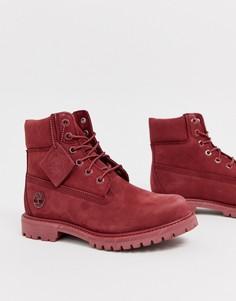 Темно-красные ботинки высотой 6 дюймов со шнуровкой Timberland-Красный