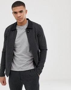 Куртка в тонкую полоску Jack & Jones Premium-Черный