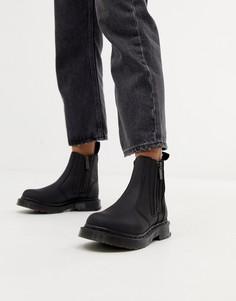 Черные кожаные ботинки челси Dr Martens 2976 Alyson-Черный
