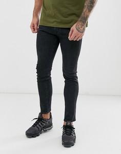 Черные джинсы скинни Wrangler Bryson-Черный