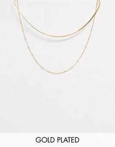 Позолоченное ожерелье-цепочка Orelia-Золотой