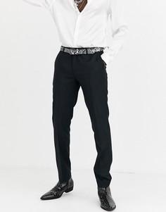 Черные брюки под смокинг Twisted Tailor-Черный