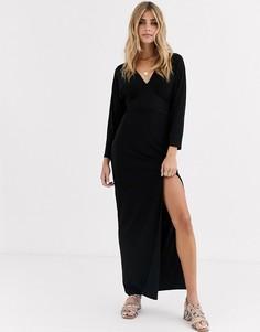 Платье макси Love-Черный