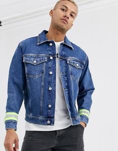 Джинсовая куртка со светоотражающими полосками Tommy Jeans-Синий