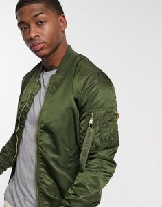 Нейлоновая куртка с карманом MA-1 от Alpha Industries-Зеленый
