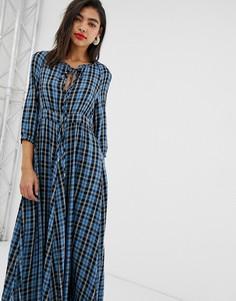 Платье макси в клетку Max & Co-Мульти