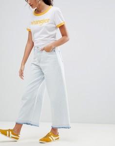 Широкие укороченные джинсы Wrangler-Белый