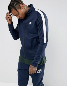 Темно-синяя спортивная куртка Nike Tribute 861648-451-Темно-синий