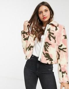 Куртка с камуфляжным принтом ASOS DESIGN-Мульти