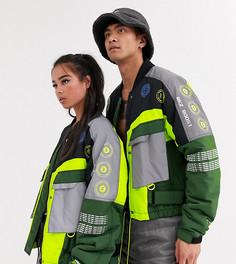 Зеленая куртка унисекс COLLUSION-Зеленый