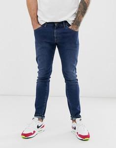 Синие зауженные джинсы Wrangler Bryson-Синий