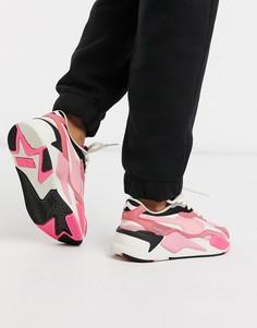 Розовые кроссовки Puma RS-X3-Розовый
