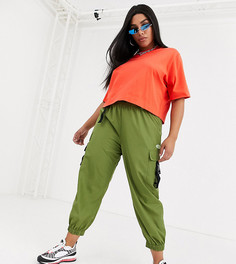 Нейлоновые брюки-карго COLLUSION Plus-Зеленый