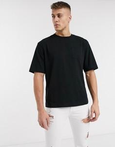 Черная свободная футболка River Island-Черный