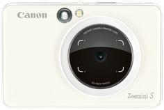 Фотоаппарат моментальной печати Canon Zoemini S (camera 8mp+ light ring+ print) PEARL WHITE