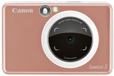 Фотоаппарат моментальной печати Canon Zoemini S (camera 8mp+ light ring + print) ROSE GOLD