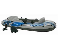 Лодка Intex Надувная лодка Excursion 4 Set (до 400кг) 315х165х43см + весла/насос