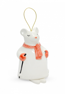 Елочная игрушка Экочеловечки Мышка-колокольчик